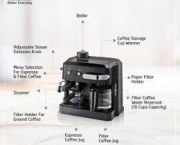 DeLonghi BCO320 Combi Espresso Maker Coffee Machine