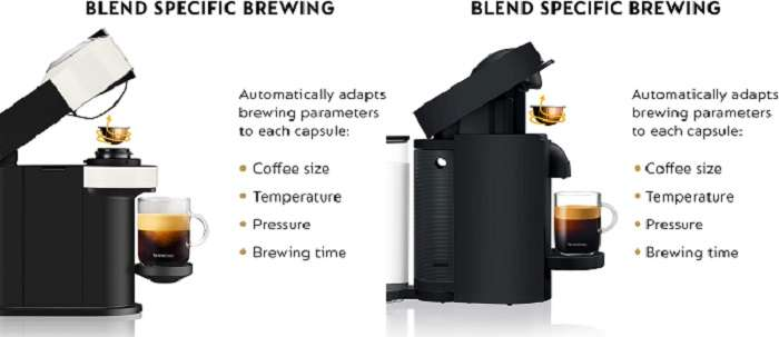 What are the Similarities between Nespresso Vertuo next vs plus