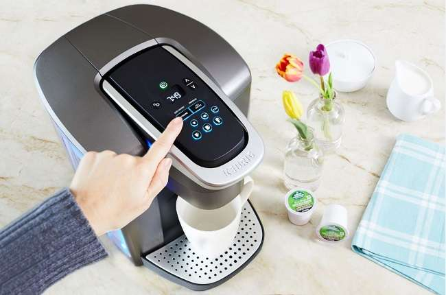What does the iced button on Keurig do?