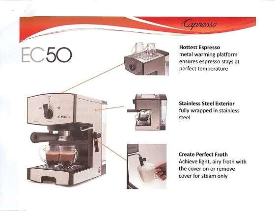 Key Features Of Capresso EC50 Espresso Machine