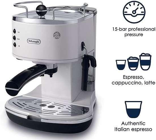 Key Features Of Delonghi ECO310w Espresso Maker