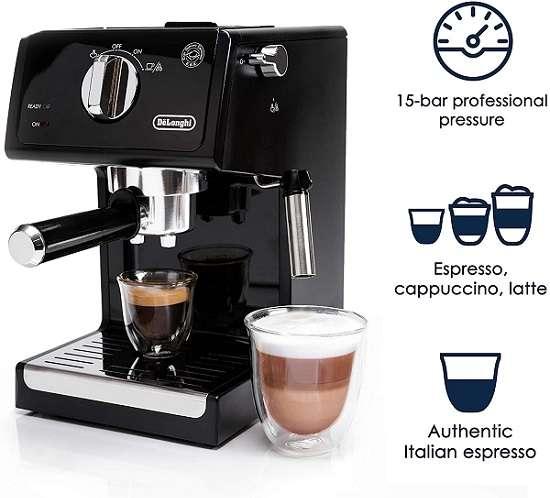 Key Features of Delonghi ECP3120 15 Bar Espresso Machine